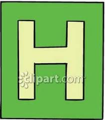 Letter H Royalty Free Clipart Picture