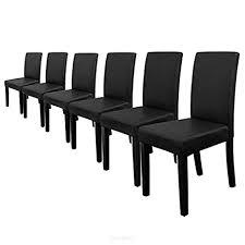 möbel 8x stühle hochlehner esszimmer dunkelrot kunst leder