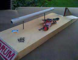 Cheap Wooden Tech Decks by Homade Or Home Made Tech Deck Grinding Rail With Wood Base