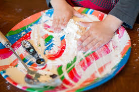 Set Up An Easy Flour Sensory Play Activity For Toddlers And Preschoolers