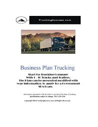 Business Plan Trucking 2018 PDF - TruckingSuccess.com Business Plan For Transport Company Logistics And Template Samples General Freight Trucking Business Plan Sample Newest Word Trucking Mplate Youtube Genxeg Sample Plans Foroftware Doc Fill Top
