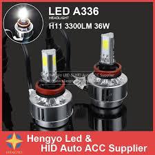 high lumen 3300lm h8 h9 h11 led l 36w cob car headlight high