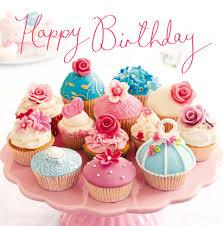B Happy Birthday Cupcake Card