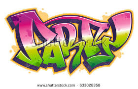 Party Word In Readable Graffiti Style Vibrant Customizable Colors