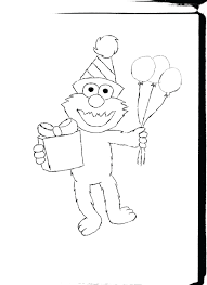 Birthday Coloring Pages Elmo And Abby Printable Free Cadabby
