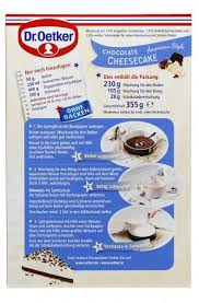 dr oetker cheesecake american style chocolate