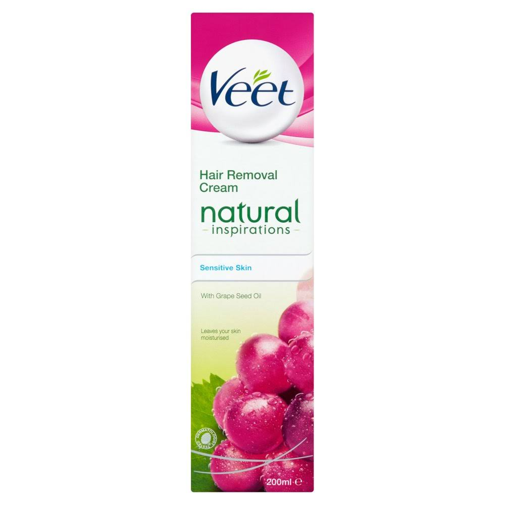 Veet Natural Hair Removal Cream - Sensitive, 200ml