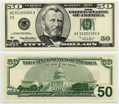 Us Fifty Dollar Bill