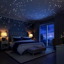 sternenhimmel schlafzimmer in deko wandtattoos wandbilder