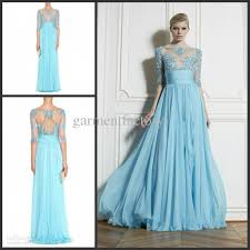 classic zuhair murad dresses evening wear illusion bodice