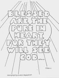 Matthew 5 7 Sermon On The Mount Beatitude Coloring Page