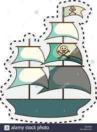 100 Design A Pirate Ship Pirate Ship Isolated Icon Vector Illustration Design Stock Vector