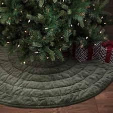 Green Velvet Christmas Tree Skirt