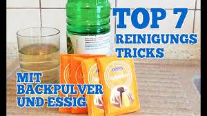 top 7 reinigungs tricks mit backpulver und essig für zuhause
