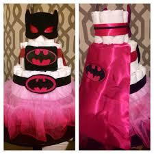 Baby Batgirl Diaper Cake Diaper Cakes Ive Made Baby Shower