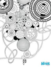Design Coloring Pages Online Circles Rosettes Page Free Printable Flower Designs Sheets Full Size