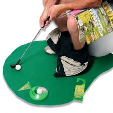 mini golf de bureau golf pour toilettes