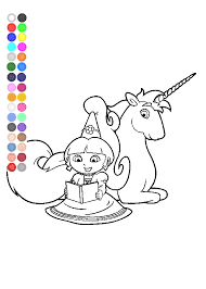 Coloring Pages Of Dora Fairytale Unicorn