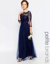 image 1 of chi chi london petite bardot lace maxi dress