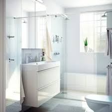 Ikea Hemnes Bathroom Mirror Cabinet by From Houzz Two Ikea Mirrored Medicine Cabinets Are Hung Side By