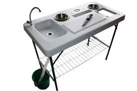 Fish Cleaning Station With Sink by Portable Camp Fish Cleaning Table With Faucet Deluxe Newport