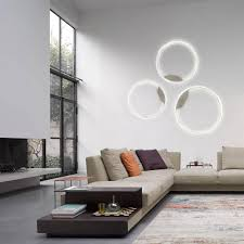 s luce pro led wand deckenleuchte ring s dimmbar ø 40cm in wohnzimmer ring deckenle wandle