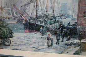 A Painting Of The Christmas Tree Schooner At Great Lakes Coast Guard Museum In Two