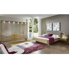 schlafzimmerset in beige mit eiche massivholz 4 teilig