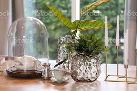blumentopf auf tisch im wohnzimmer stockfoto und mehr bilder architektur