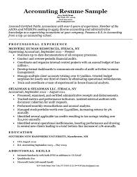 Accounting Resume Sample Download