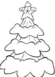 Free Coloring Pages Christmas Snow In A Tree Winter Coloring