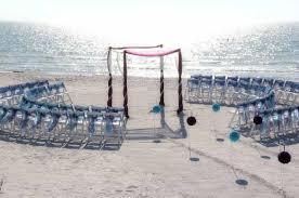 Florida Beach Wedding Aisle Style By Suncoast WeddingsSuncoast