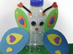 Butterfly From Waste Bottle Management Art Craft