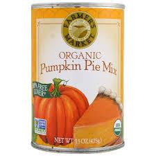 Libby Pumpkin Pie Mix Recipe Can by Farmer U0027s Market Foods Organic Pumpkin Pie Mix 15 Oz 425 G