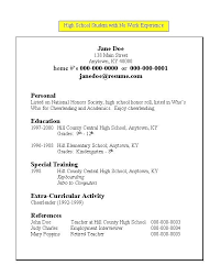 Resume Samples For Highschool Students Skills With Paper Writing Service Institute
