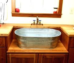 vanities trough sink vanity with two faucets trough sink and
