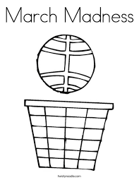 March Madness Coloring Page Print This