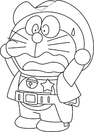 Doraemon Colouring Pages To Colour Worksheets Print