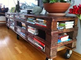 Mobile Entertainment Center Made From Repurposed Pallets Brilliant Via