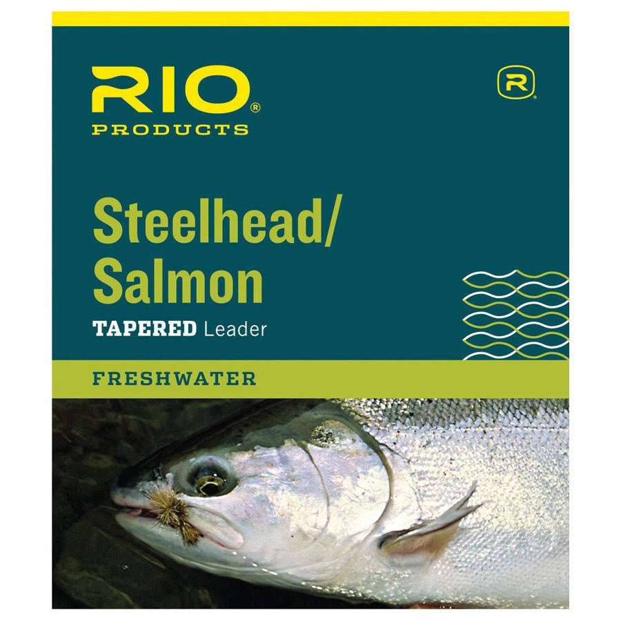 Rio Salmon or Steelhead Fly Fishing Leader - Glacial Green, Tapered, 12lbs, 9'
