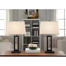 Living Room Table Lamps Walmart by Better Homes And Gardens Open Work Lamps Set Of 2 Black