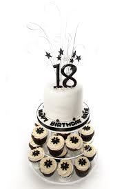 Favorites 18th · black white · black · cupcake · white · Birthday Cakes