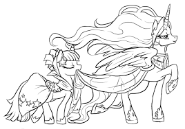 Alicorn Coloring Pages My Stunning Little Pony Princess Twilight Sparkle