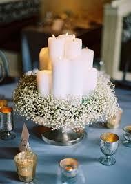 Original And Budget Friendly Centerpiece Candles Babys Breath