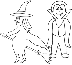 Vampire Coloring Book Pages