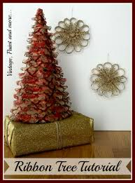 Pine Cone Christmas Tree Tutorial by Ribbon Tree Tutorial Vintage Paint And More