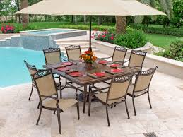 cordoba sling aluminum 9 pc dining set with 64 porcelain tile top