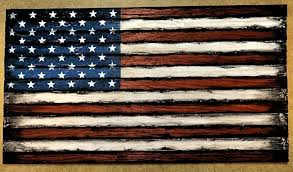 Wooden American Flag Decor Sign
