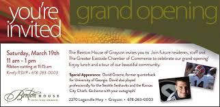 Benton House of Grayson Grand Opening