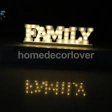 aliexpress buy led family letters wooden sign free standing